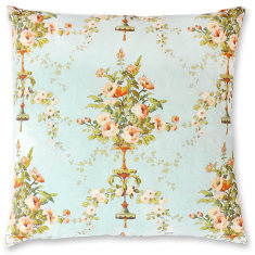 Montpellier Florals linen cushion cover