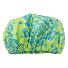 Sea green Shower Cap In Laminated Cotton