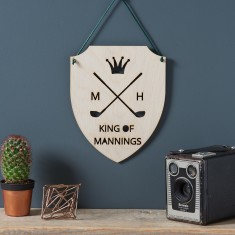 Personalised Wooden Golf Sign