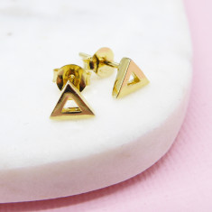 Triangle Studs (Gold Vermeil)