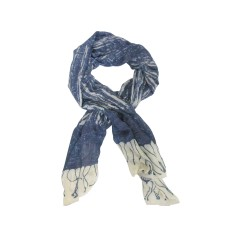 My Dreamscape Scarf: Navy and Cream
