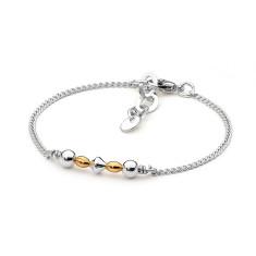 Sterling silver cone bead fine bracelet
