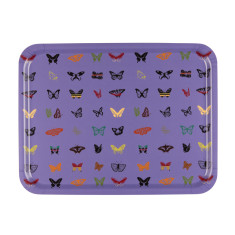 Purple Butterfly Large Serving Tray