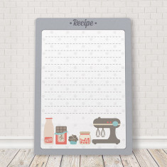 Recipe board mounted plaque