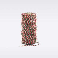 Red, white & green Christmas bakers twine
