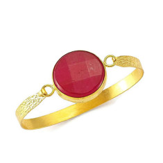 Red agate bangle by Michelle Caley