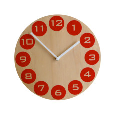 Objectify Red Dot Wall Clock