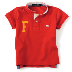 The Firecracker - personalised red polo