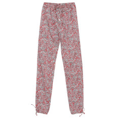 Harem lounge pants in red laurel