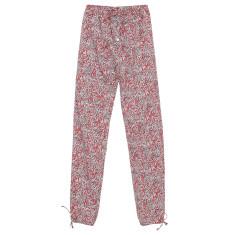 Harem lounge pants in red laurel