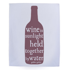 Wine is sunlight tea towel in burgundy
