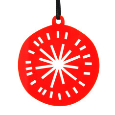 Red Christmas bauble decoration