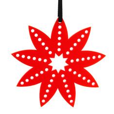 Red Christmas flower decoration