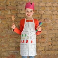 Doodle kid's Christmas apron