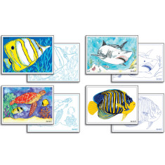 Australian reef card making pack