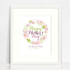Happy Mother's Day personalised print