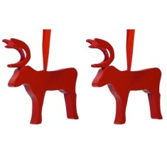 Reindeer hanging decoration (2-pack)