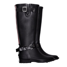 Relay red zip wellies