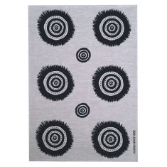 Black Embellish linen tea towel (natural or off-white)