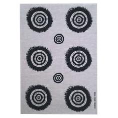 Black Embellish linen tea towel (natural or off-white)