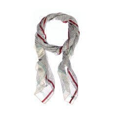 Aish vayu white and navy scarf