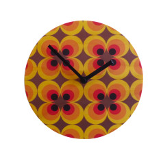 Objectify Retro Flower Wall Clock