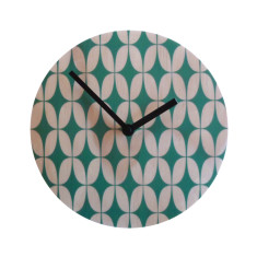Objectify Retro Green Star Wall Clock