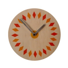 Objectify retro plate wall clock