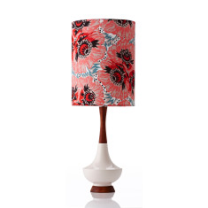 Electra table lamp large in Raoul coral
