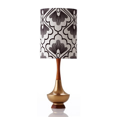 Electra table lamp large in fan coal