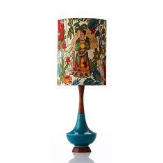 Electra large table lamp in Frida Kahlo print
