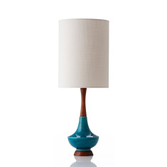 Electra large table lamp in ivy bone