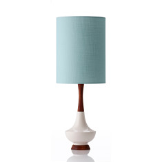 Electra large table lamp in ivy mist