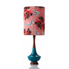 Electra large table lamp in Raoul coral