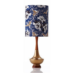Electra large table lamp in Raoul royal