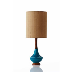 Electra table lamp small in raw silk gold