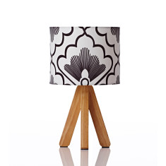 Tipi table lamp in fan coal