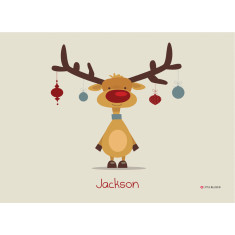 Retro Rudolph personalised placemat