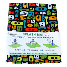 Counting numbers splash mat/highchair mat waterproof and washable