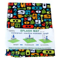 Counting numbers splash mat/highchair mat