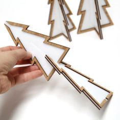 Perspex and Bamboo Christmas Tree Ornaments