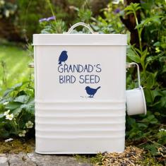 Personalised Bird Seed Tin