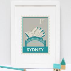 Sydney Stamp print