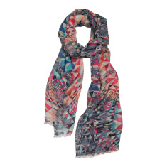 Jewel puzzle geometric scarf