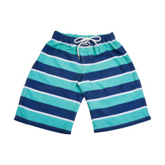 Boys' Bold Green stripe Boardshorts