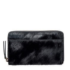 Delilah leather wallet in black