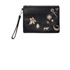 The Crown Jewels Clutch - Black/Gold