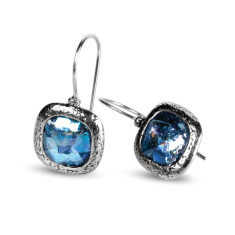 Aurelia dichroic Ancient Roman glass sterling silver drop earrings