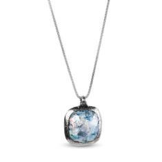 Aurelia Dichroic Ancient Roman glass sterling silver pendant