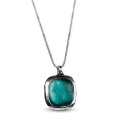 Aurelia Ancient Roman glass sterling silver pendant